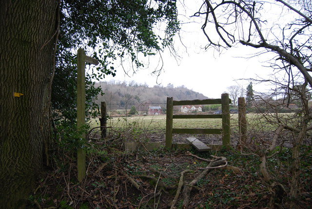 Stile where a footpath joins the byway