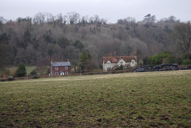 Looking across a field to Empshott Green