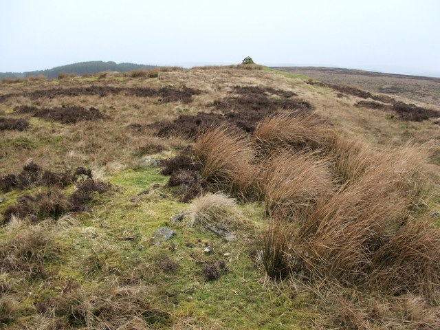 Remains of a cairn on the Hill of Standing Stones