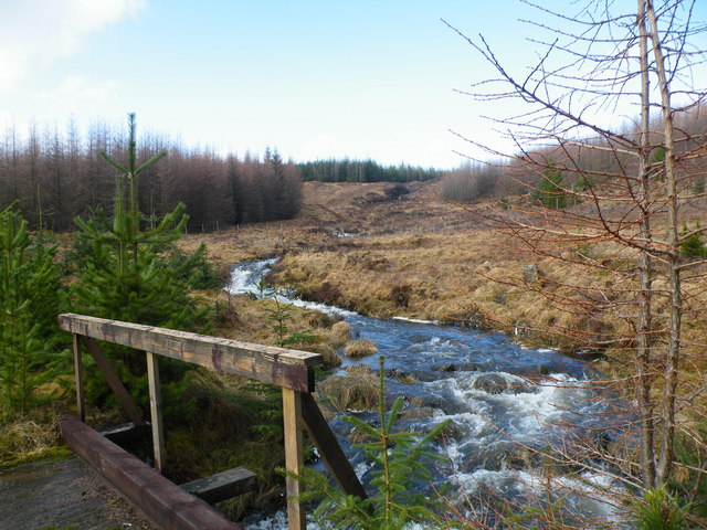 Bridge across Allt a' Chaorainn