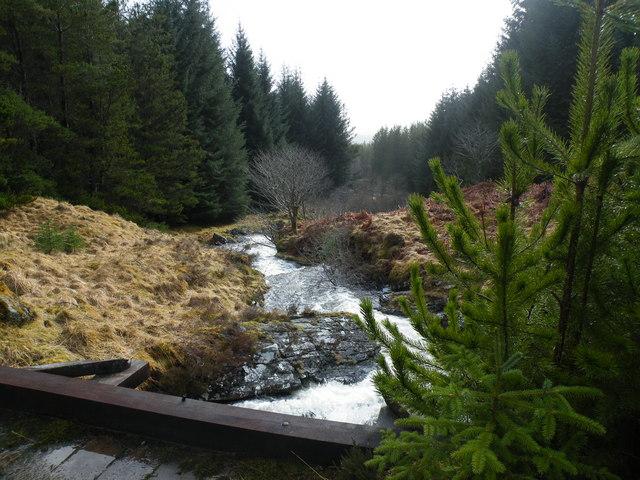 Allt a' Chaorainn Waterfall from Bridge