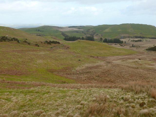 Bryniau uwchben Llanerfyl / Hills above Llanerfyl