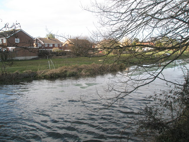 Looking across the River Ems from River Street towards Ellesmere Orchard