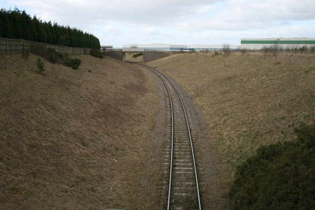 Rail line from the quarry