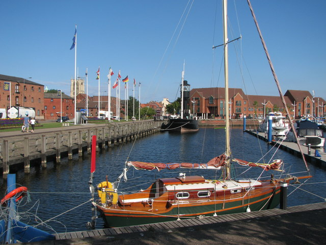 Boats in the dock at Hull