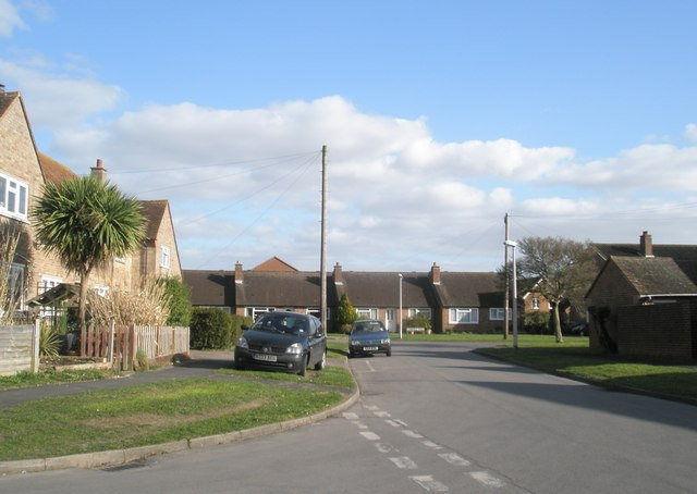 Looking along Churcher Road towards Homefield Road