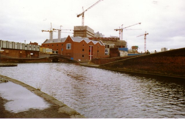 Symphony Hall being Built, View from Canal 1989