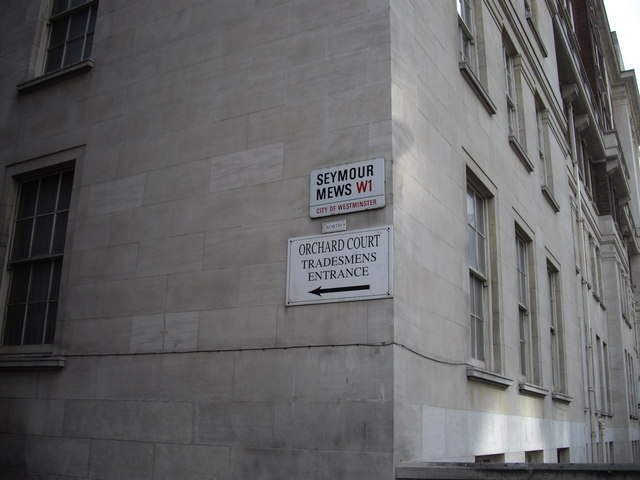 Signs on side of Orchard Court North