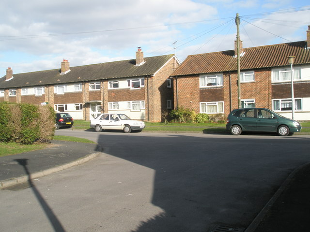 Looking from Crockford Road into Homefield Road
