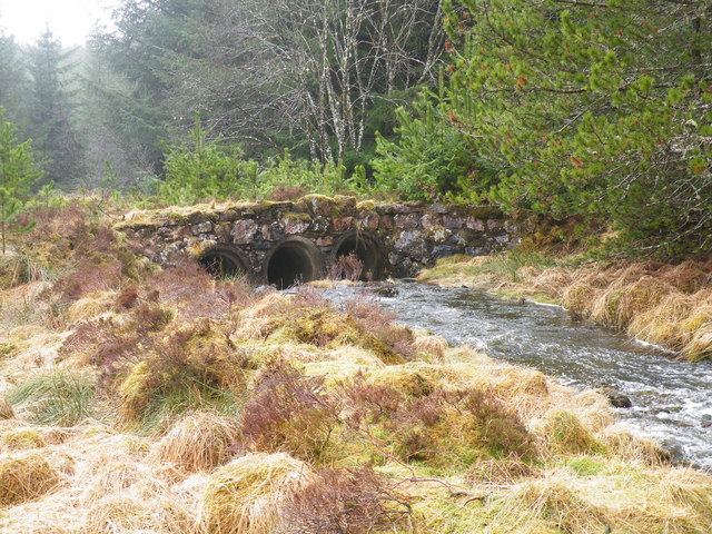 3 Pipe Bridge on Ardochy Forest Track