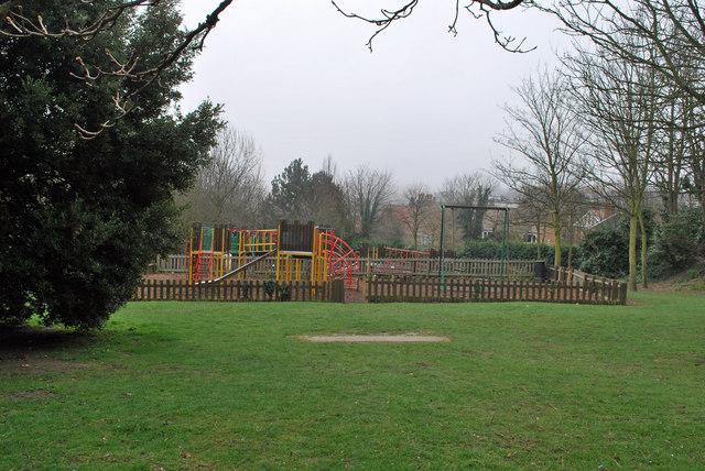 Children's play area in Pierremont Park