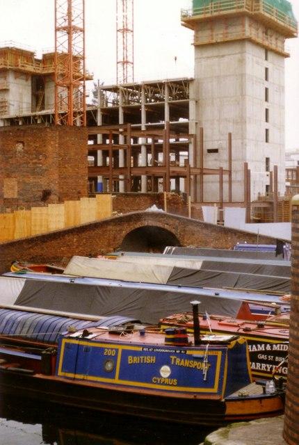 Gas Street Basin Showing Hyatt Hotel Under Construction 1989