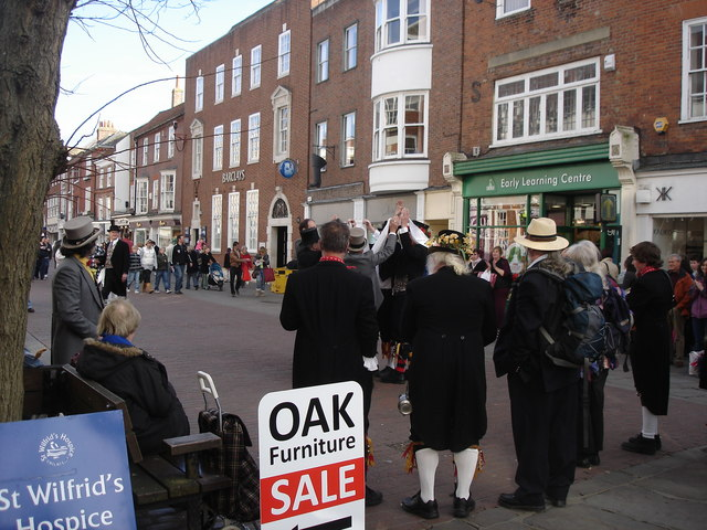 Chichester - morris dancers on East Street