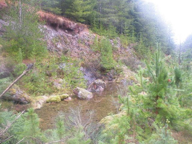 Old Quarry near Allt an Doire Fheàrna
