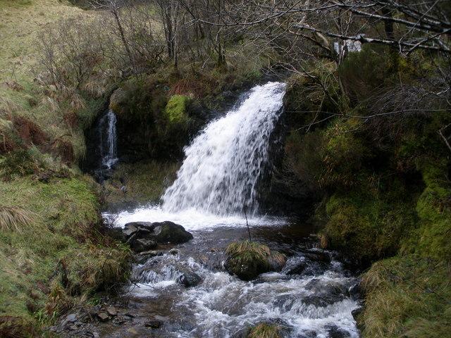 Waterfall on the Sluain Burn