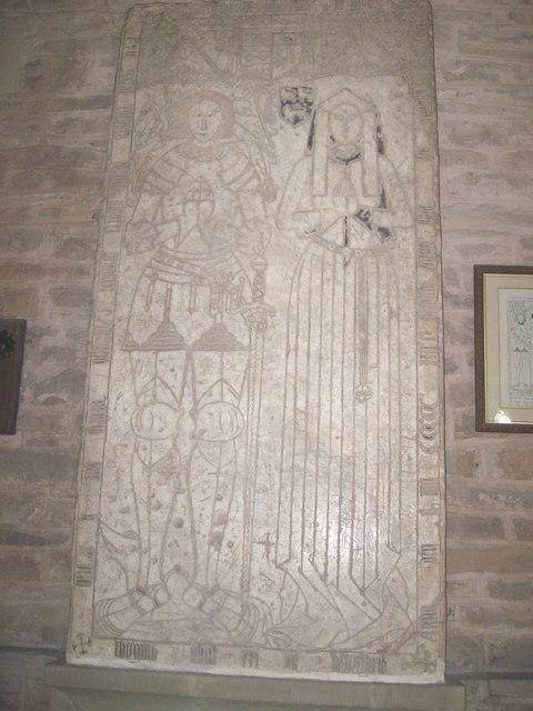 Wall plaque in Turnastone Church