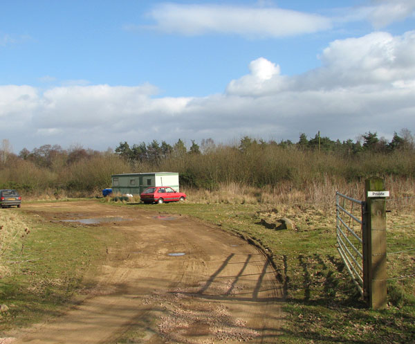 Private car park for anglers
