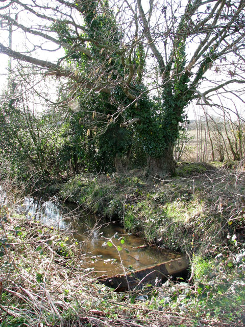 Weir on unnamed stream
