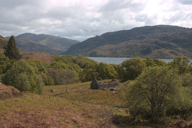 Ruined farmstead by Loch Morar
