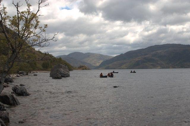 Canoeists, Loch Morar