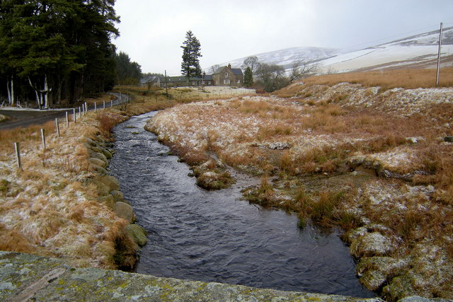 View of Burn of Glenmoye looking upstream