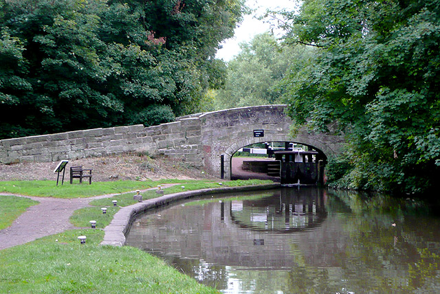 Trent and Mersey Canal at Shugborough, Staffordshire