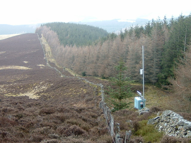 Monitoring instruments at forest boundary