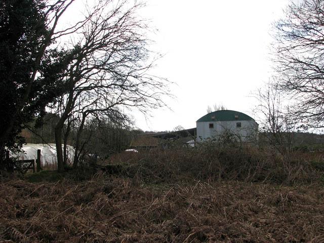 View towards Bracken Farm Barn