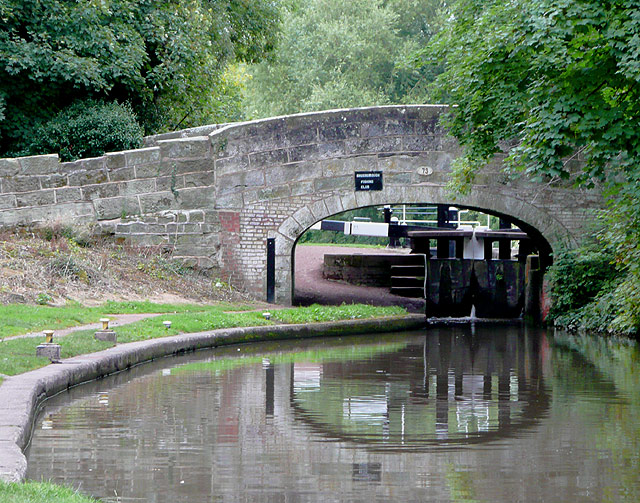 Bridge No 73, Trent and Mersey Canal at Great Haywood, Staffordshire
