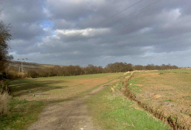 The end of the bridleway from Wadworth