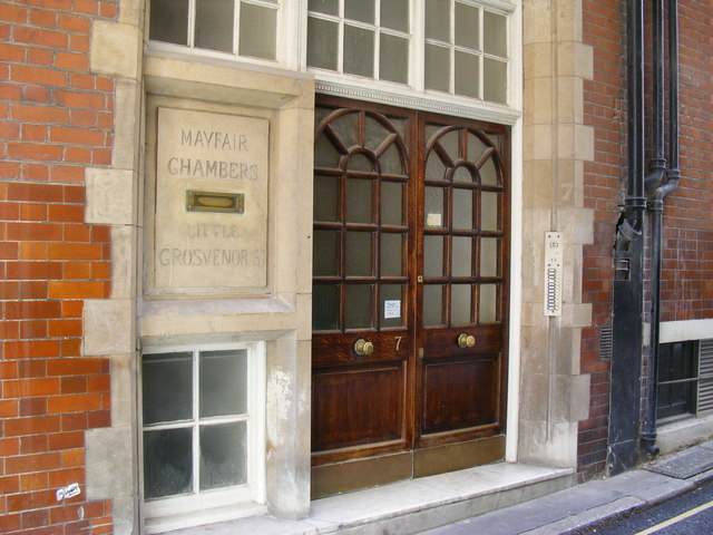 Entrance to Mayfair Chambers