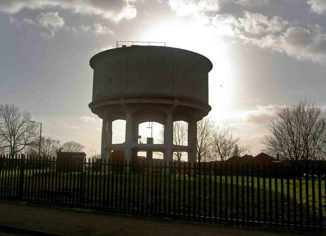 Concrete water tower Grange Lane