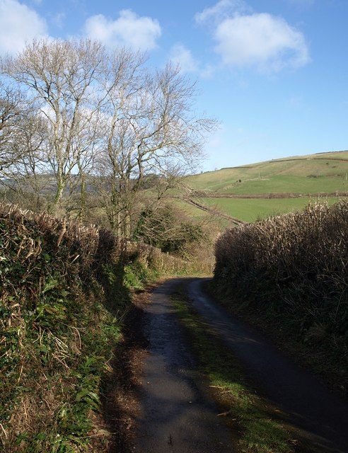 Lane to Pridhamsleigh