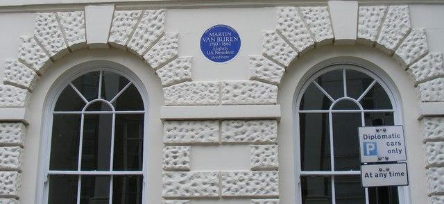 Blue Plaque 'Martin Van Buren'