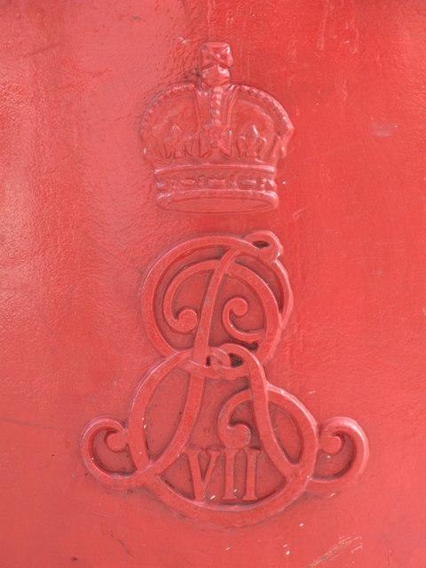 Edward VII postbox, Endsleigh Street, WC1 - royal cipher
