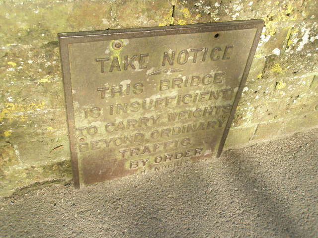Notice on bridge over the River Ems at North Street