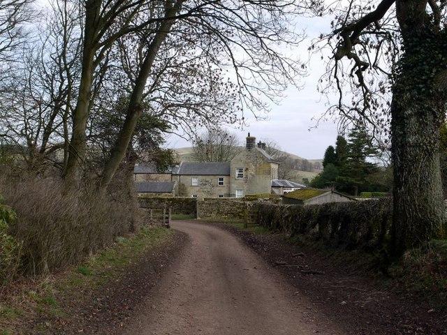 Prendwick Farm from the west side