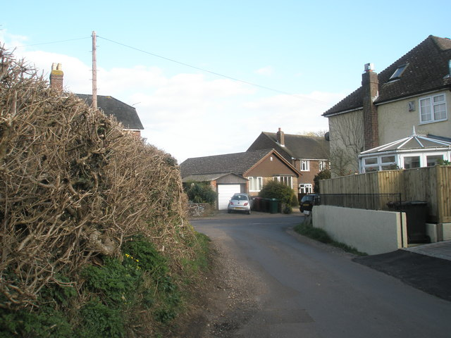 Looking from Long Copse Lane into North Street