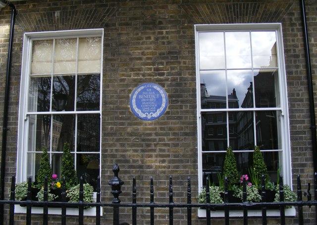 Blue Plaque 'Sir Julius Benedict'