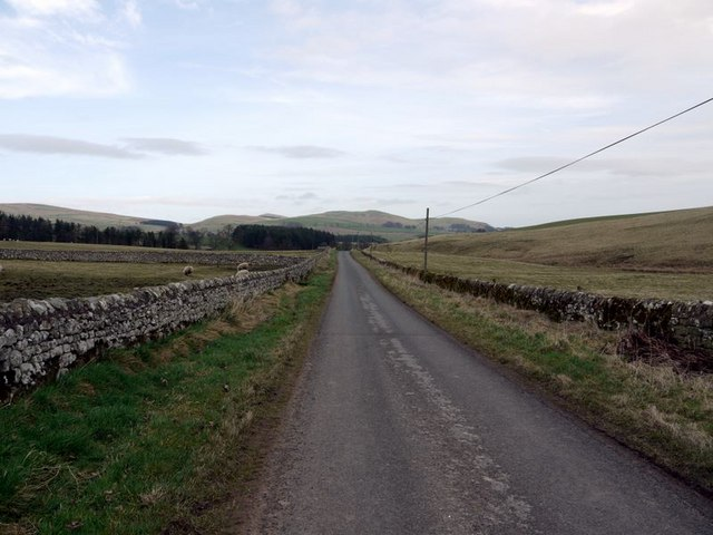 Minor road near Alnham House