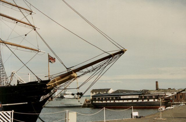 The RRS Discovery and the HM Frigate Unicorn