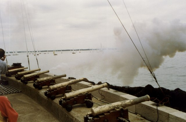 Cannons at Cowes