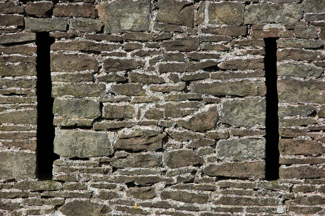 Ventilation holes in a stone barn