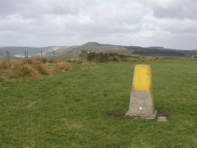 Trig point, on summit of Ynyshir