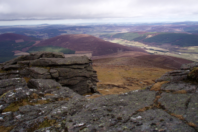 View east from Ben Rinnes summit