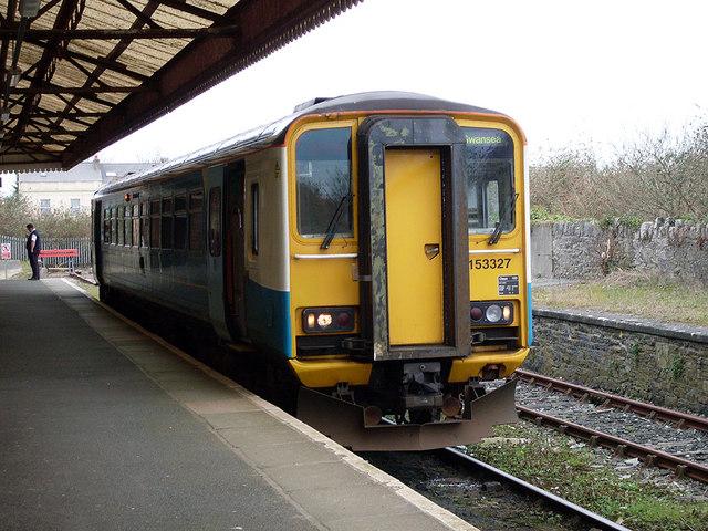 DMU at Pembroke Dock station