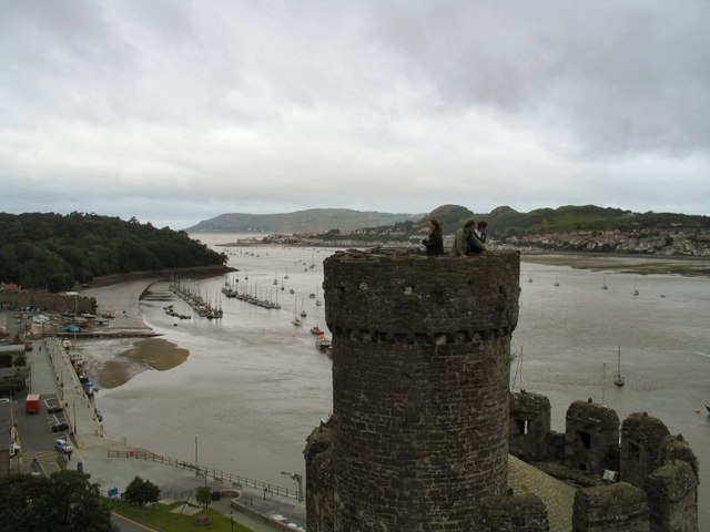 Conwy Castle Tower and Estuary
