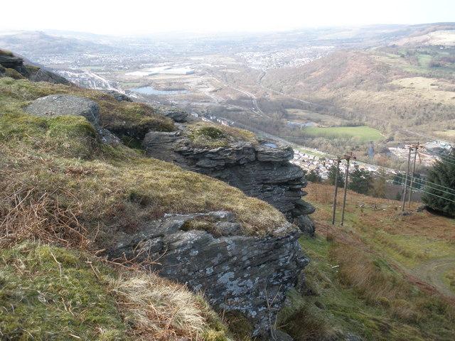 Crags, above Glenboi