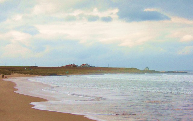 Bamburgh's beautiful beach