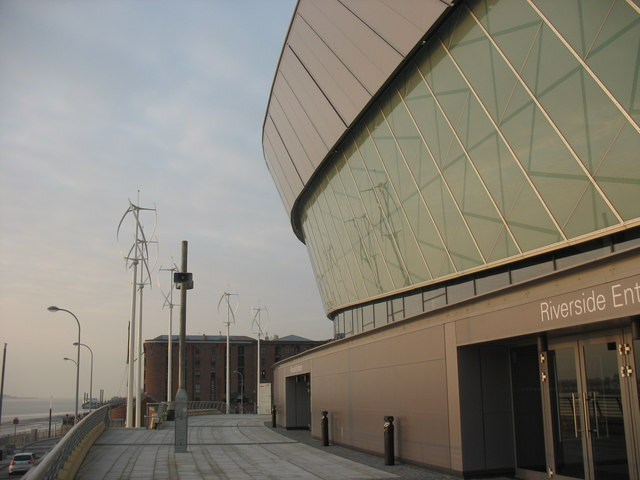 The Riverside Entrance of Liverpool's Echo Arena